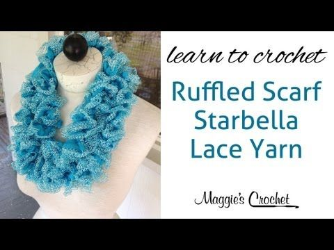 ▷ Starbella Lace Ruffled Scarf easy lesson with Maggie Weldon ...
