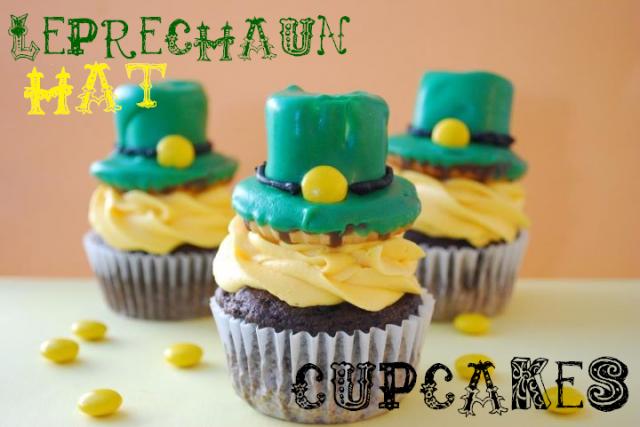 Leprechaun hat cupcakes {the domestic rebel}