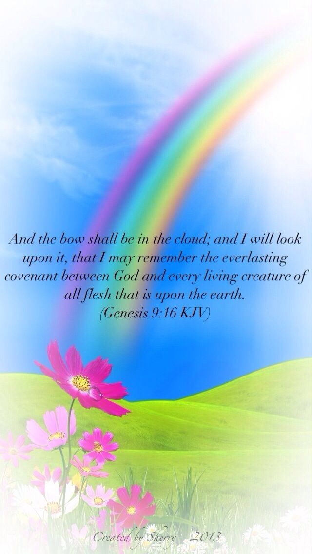 And The Bow Shall Be In Cloud I Will Look Upon It That