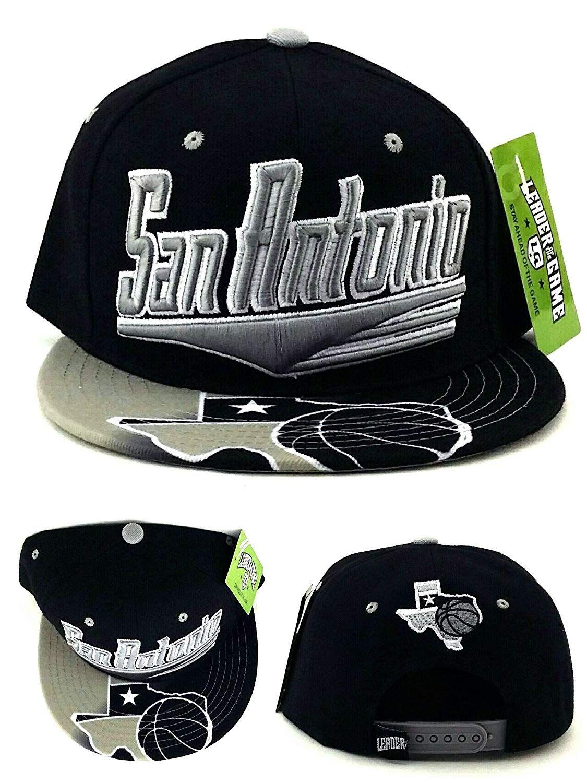 best service 0489e 78158 San Antonio Flash Basketball TX Leader Spurs Colors Black Gray Era Snapback  Hat,  18.49