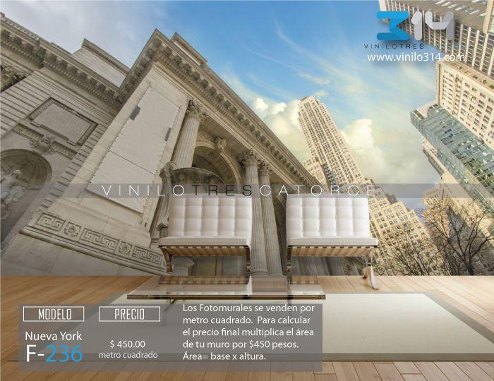 Fotomurales ciudad skyline NY Nueva York Edificios (Tapiz) (mural) (fotomural) Decoración de muros y superficies lisas. Vinilo 314 Guadalajara Mexico. www.vinilo314.com
