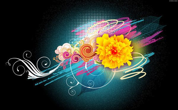 Vector Inspirational 15 Creative Vector Wallpapers For Your Desktop Android Wallpaper Flowers Flower Wallpaper Abstract Flowers