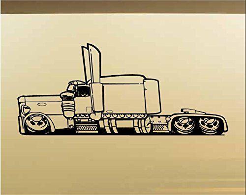 Low Rider Semi Truck Car Auto Hot Rod Racing Vinyl Wall Art Sticker ...