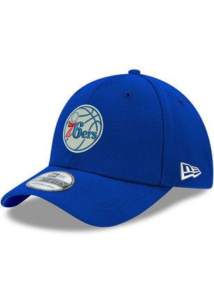 022802562ac New Era Philadelphia 76ers Mens Blue Team Classic 39THIRTY Flex Hat ...