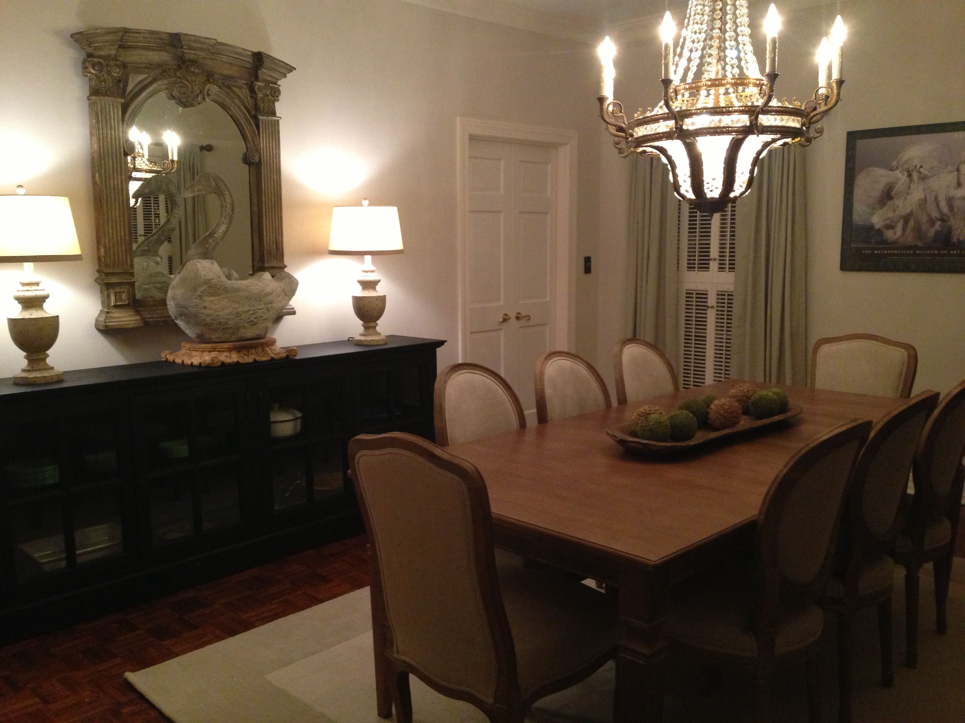 Our Dining Room In Avery Gardens Jackson Mississippi Ethan Allen Table Pottery Barn CurtainsFrench