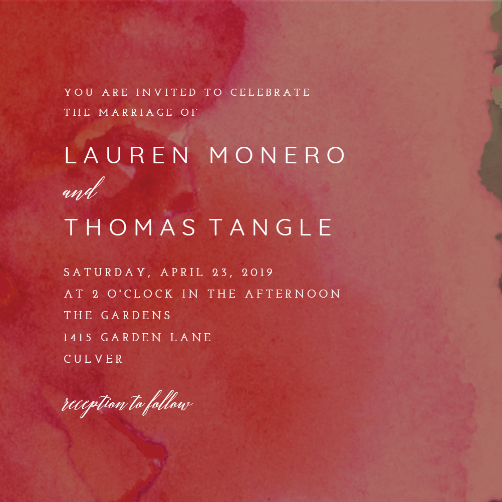 Blue Watercolor invitation template. Customize, add text and photos ...