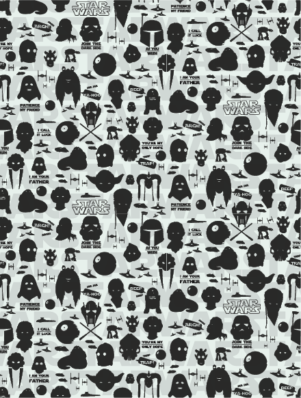 Star Wars Pattern On Behance Star Wars Birthday Party Pinterest Impressive Star Wars Pattern