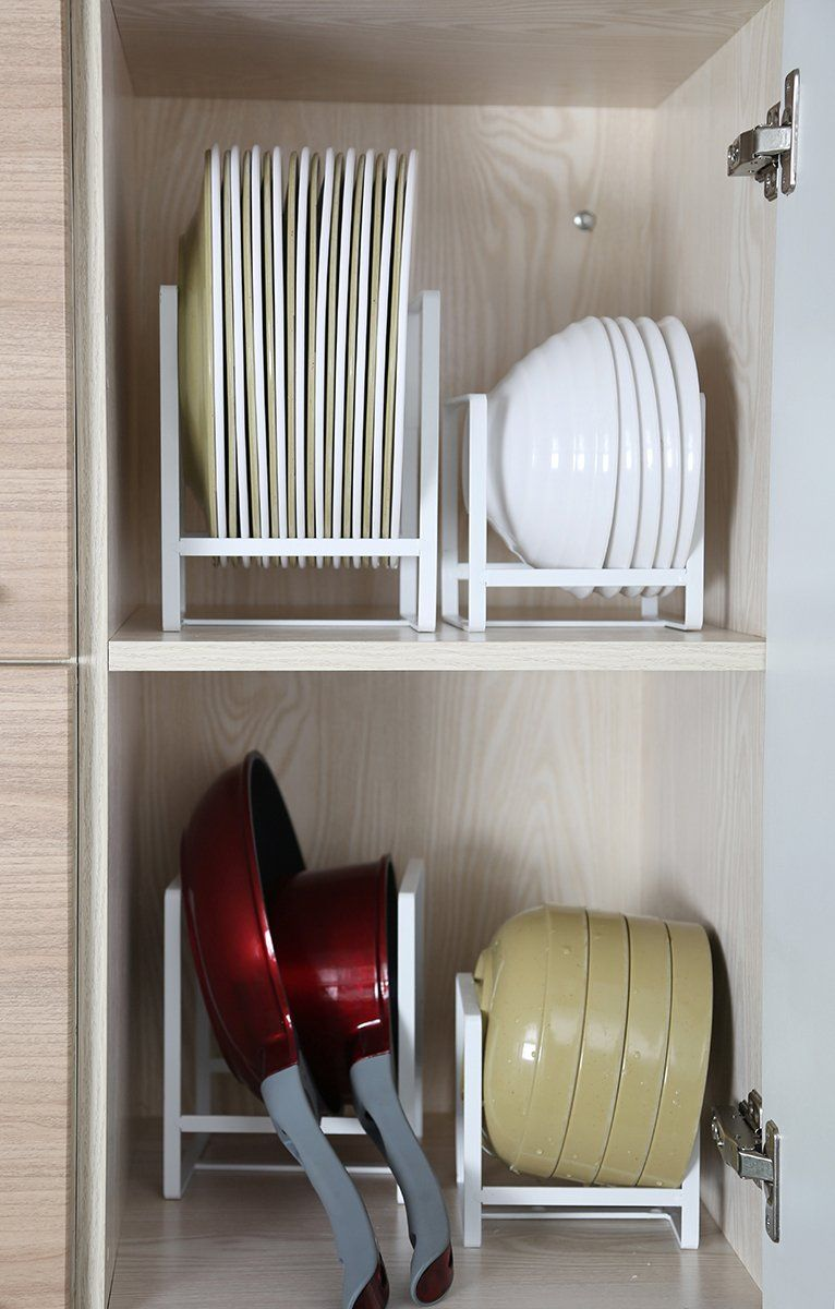 Kitchen Plates Holder Organizer Small Dish Drying Rack Stand For Cabin Cupboard Organisation Kitchen Kitchen Cabinet Organization Kitchen Utensil Organization