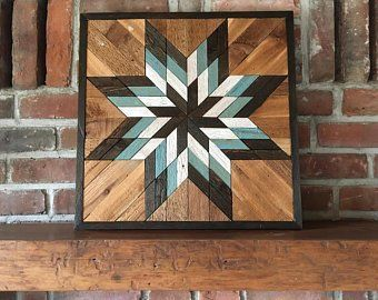 Reclaimed wood wall art - Southwest wood wall art - Saddle Blanket - Wood Quilt #reclaimedwoodwallart