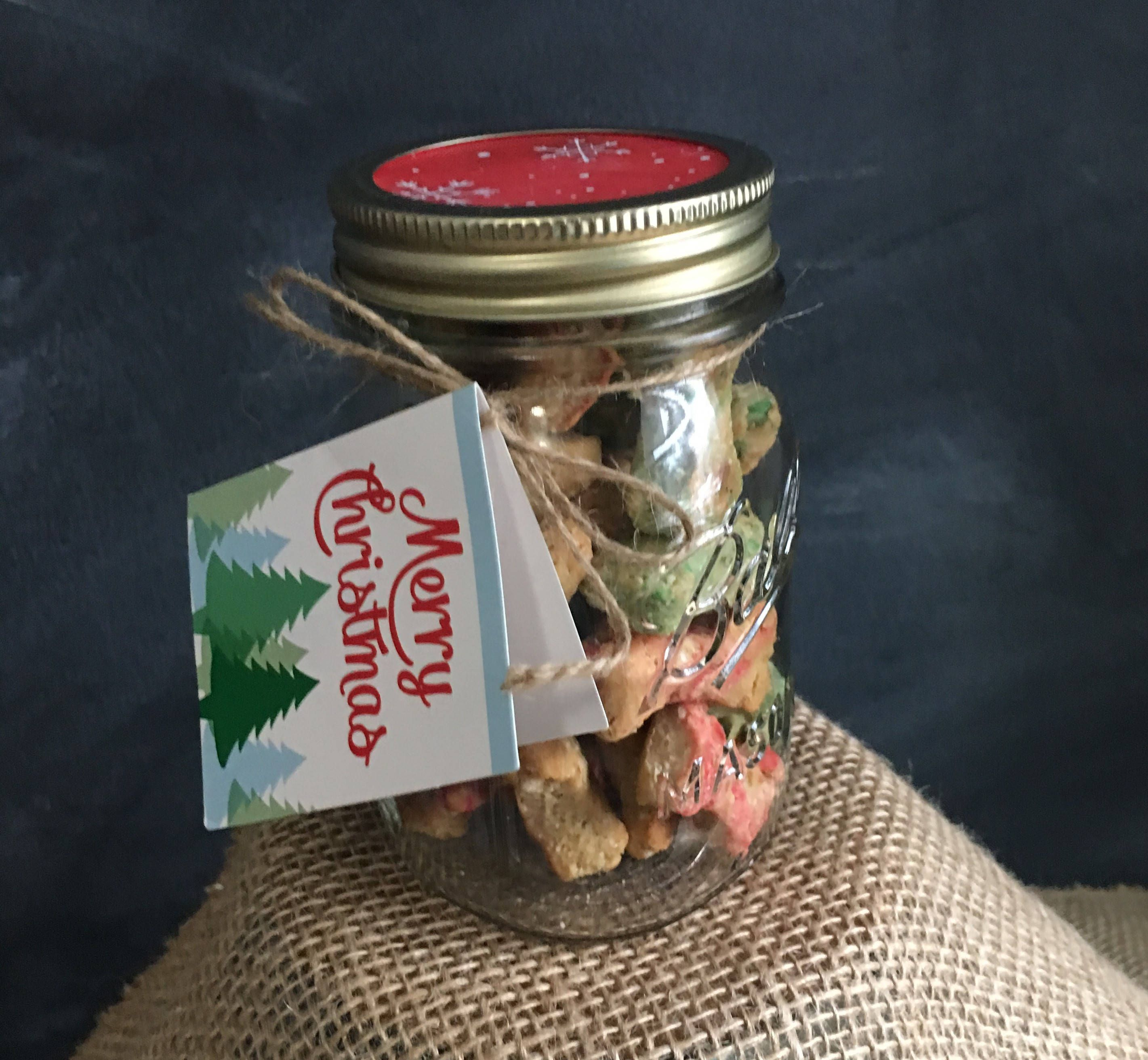 Excited to share the latest addition to my #etsy shop: Christmas Dog Treats with Mason Jar Shipped directly to gift receiver http://etsy.me/2jgQSL2 #pets #treat #christmas #christmasdogtreats #dogtreats #homemade #dogownergift #doggift #masonjardogtreat