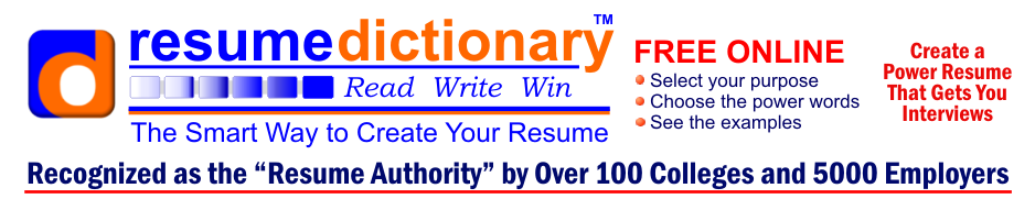 resume dictionary