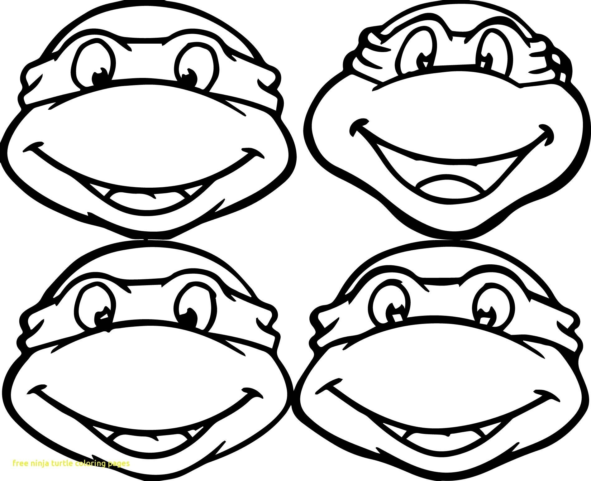 Tmnt Face Coloring Pages Download