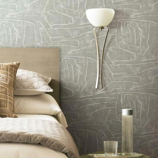 Urban Chalk Peel Stick Wallpaper In Grey By York Wallcoverings Peel And Stick Wallpaper Wall Coverings Burke Decor