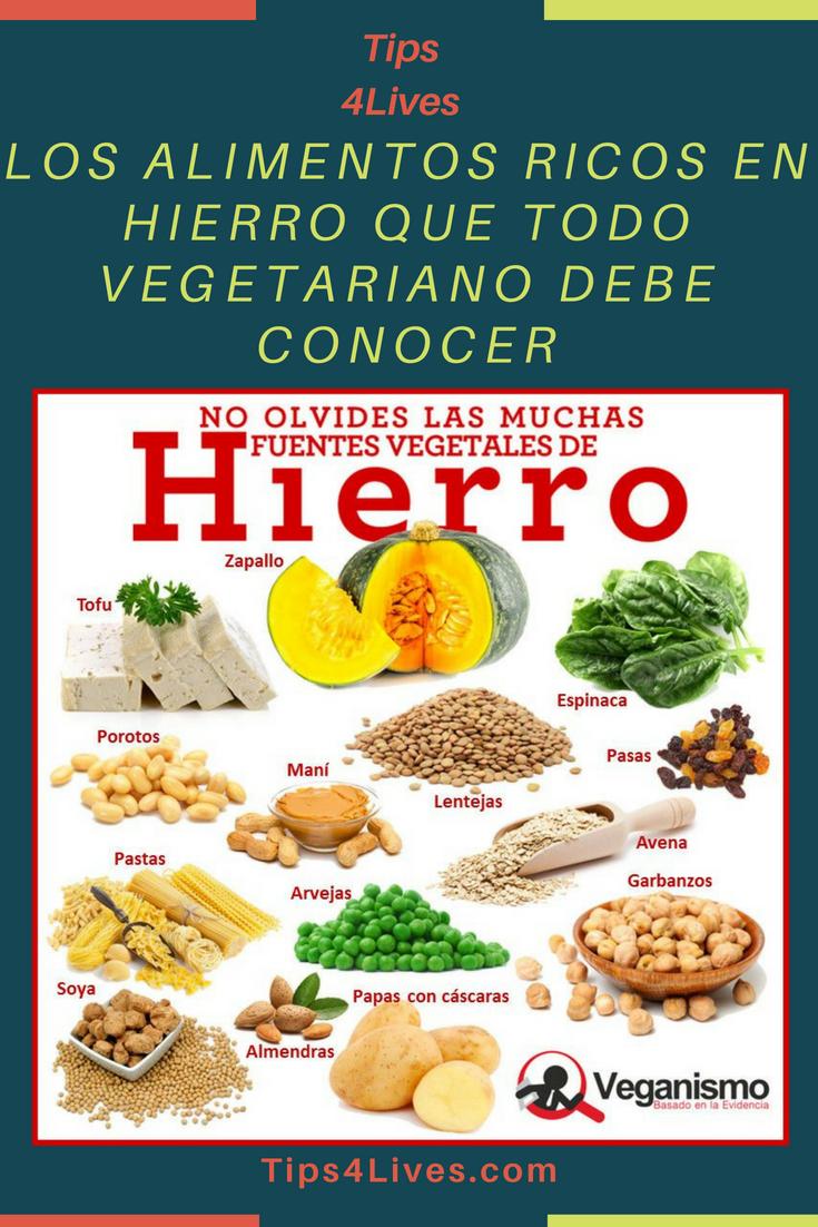 Los Alimentos Ricos En Hierro Que Todo Vegetariano Debe Conocer Tips Life Vida Salud Remedios Tips4lives Hierro Vegetari Food Healthy Recipes Healthy