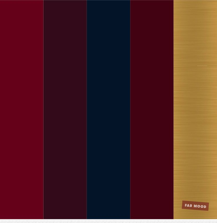 Burgundy , Gold and Navy Blue Color Palette - Fabmood ...
