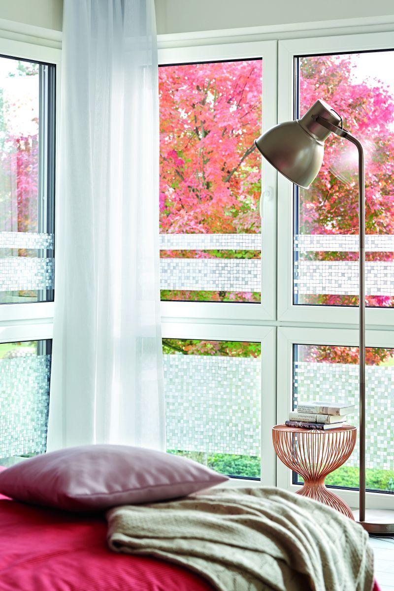 Mosaike am Fenster Mit der Glas Folie wunderschöne Effekte im