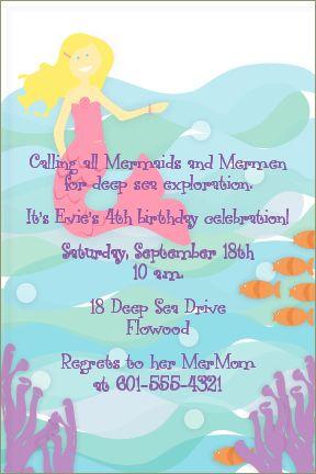 Mermaid Party Invitation