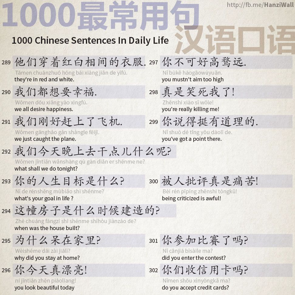 1000 Chinese Sentences In Daily Life Part 19 Mandarin 3