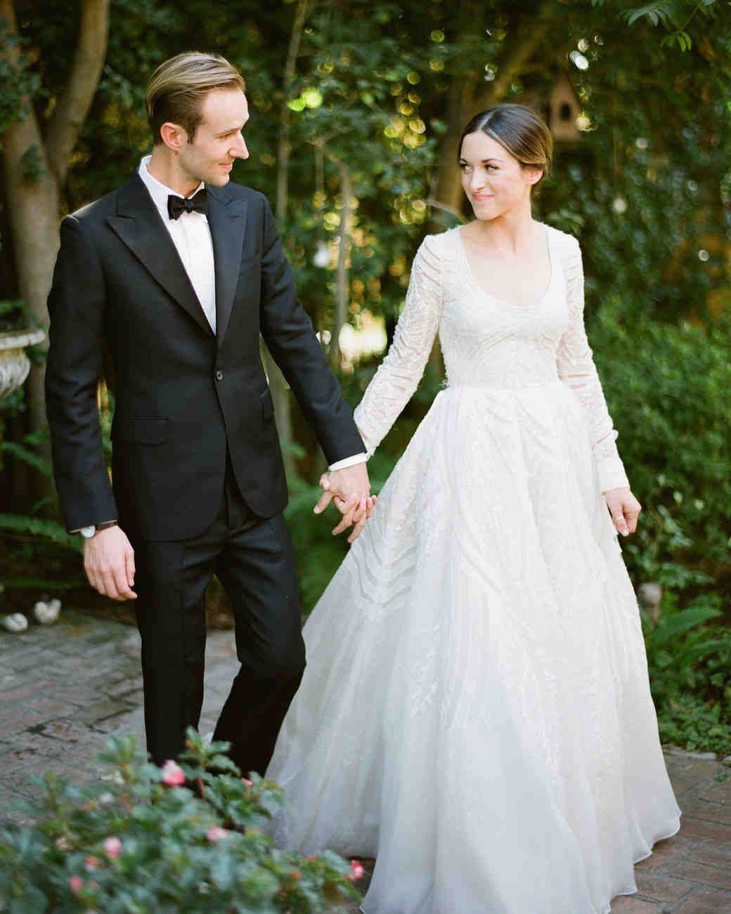 a backyard, garden wedding in san marino | martha stewart weddings