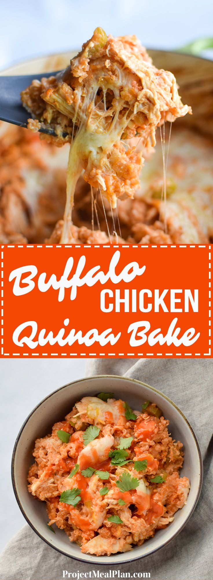 Photo of Buffalo Chicken Quinoa Bake
