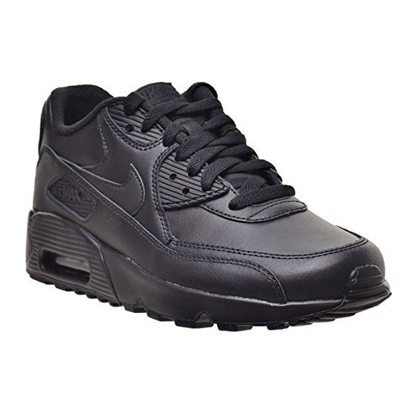 NEW NIKE AIR Max 90 Leather GS 833412 001 Big Kid's Black