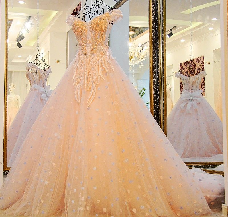 9ca760cba [Free Shipping] Buy Best New A line Wedding Gown 2017 Tulle Lace Flowers  Bridal Dress Cheap Wedding Dresses China Custom Made WS52 Online with  LOWEST Price ...