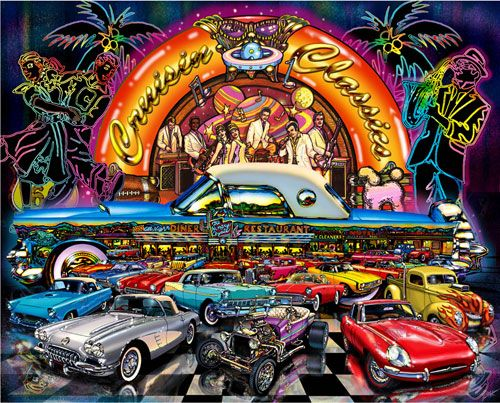 1000 Images About Cruisin On Pinterest: Cruisin Classics Cars White Mountain 1000 Piece Jigsaw