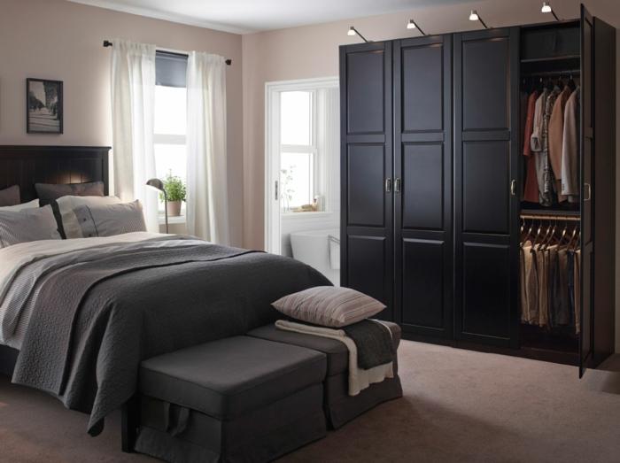 Schlafzimmer Ideen Ikea Dunkel In 2020 Kleiderschrank Schwarz Schlafzimmer Einrichten Schlafzimmer Einrichten Ideen