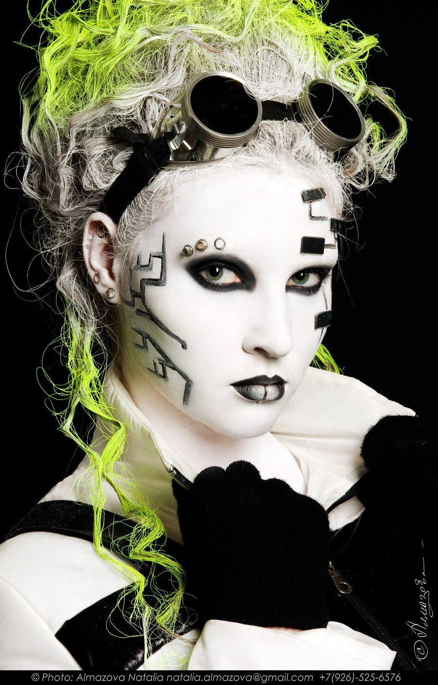 Cyber girl by po4ti-budda on DeviantArt