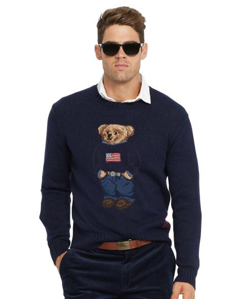 Flag Polo Bear Sweater - Polo Ralph Lauren Crewneck - RalphLauren ... 79091769893f
