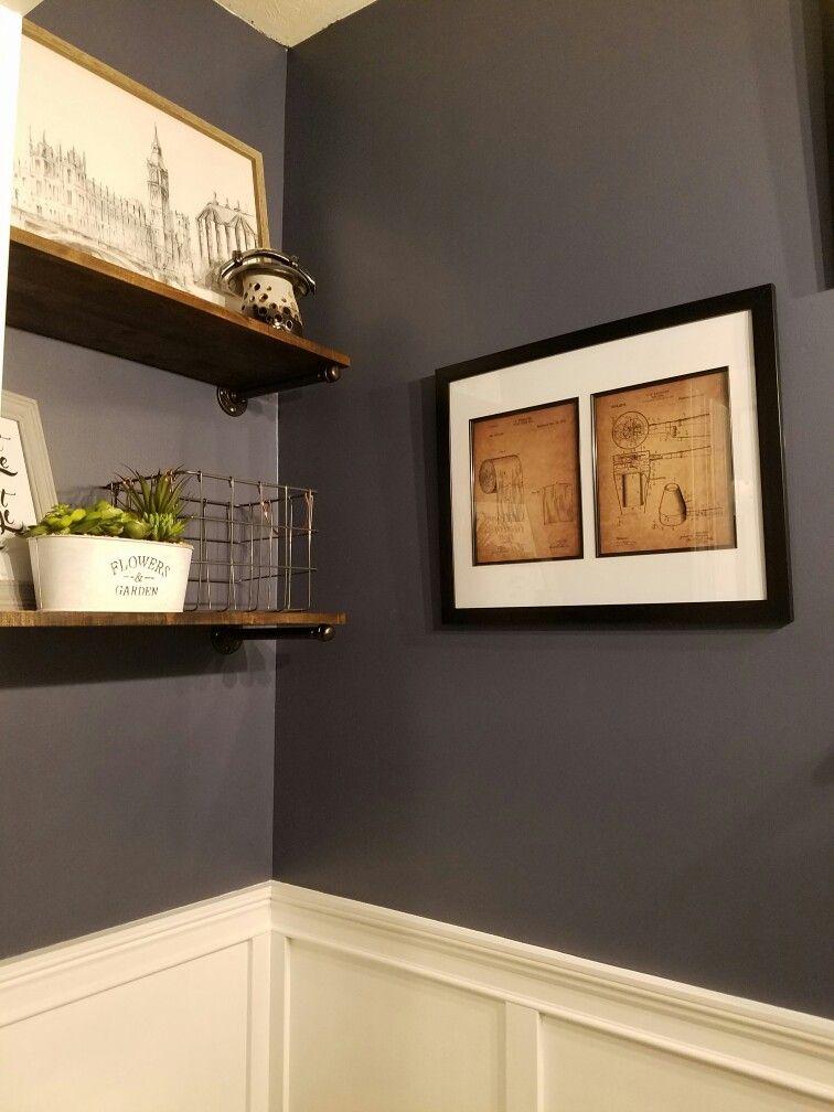 Delicieux Board U0026 Batten, Chair Rail; Industrial Shelves W/plumbing Fixtures;  Bathroom Patent