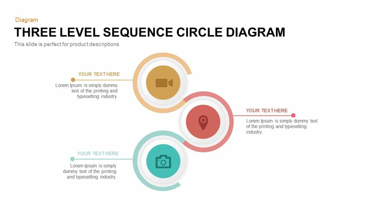 3 Level Sequence Circle Diagram Powerpoint Template And Keynote Three Level Sequence Cir Circle Diagram Powerpoint Templates Powerpoint Presentation Templates