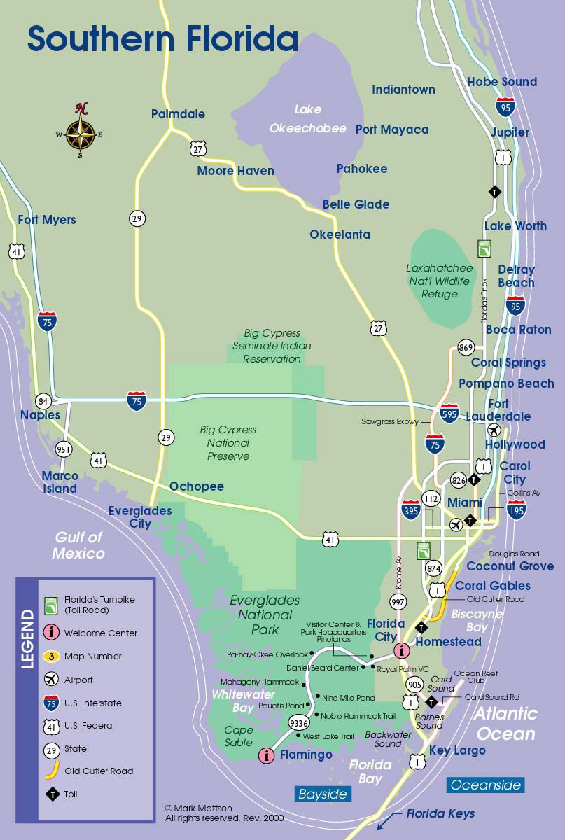 South Florida Map – Tourist Map Of Florida Attractions