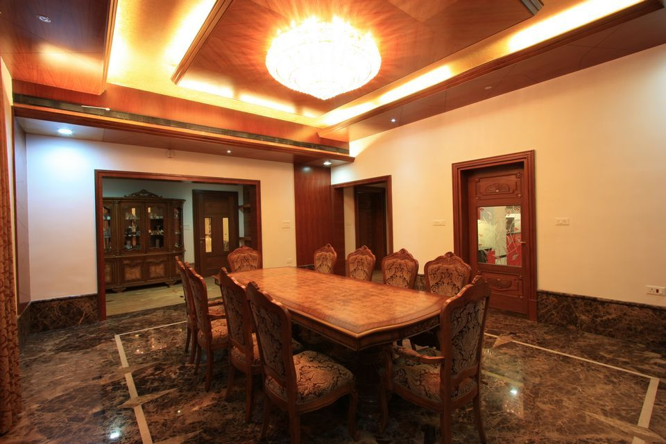 Informal Dining Room Used By The Family Has A Posh Dining Table