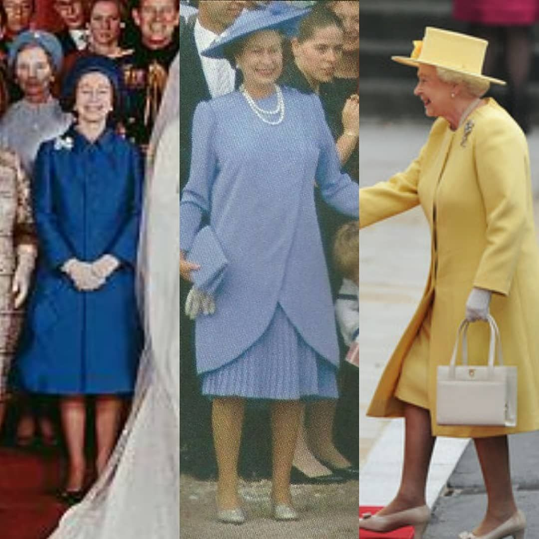 Royal weddings the Queen's style over the years. (L
