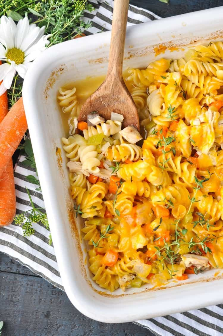 Dump-and-Bake Chicken Noodle Casserole images