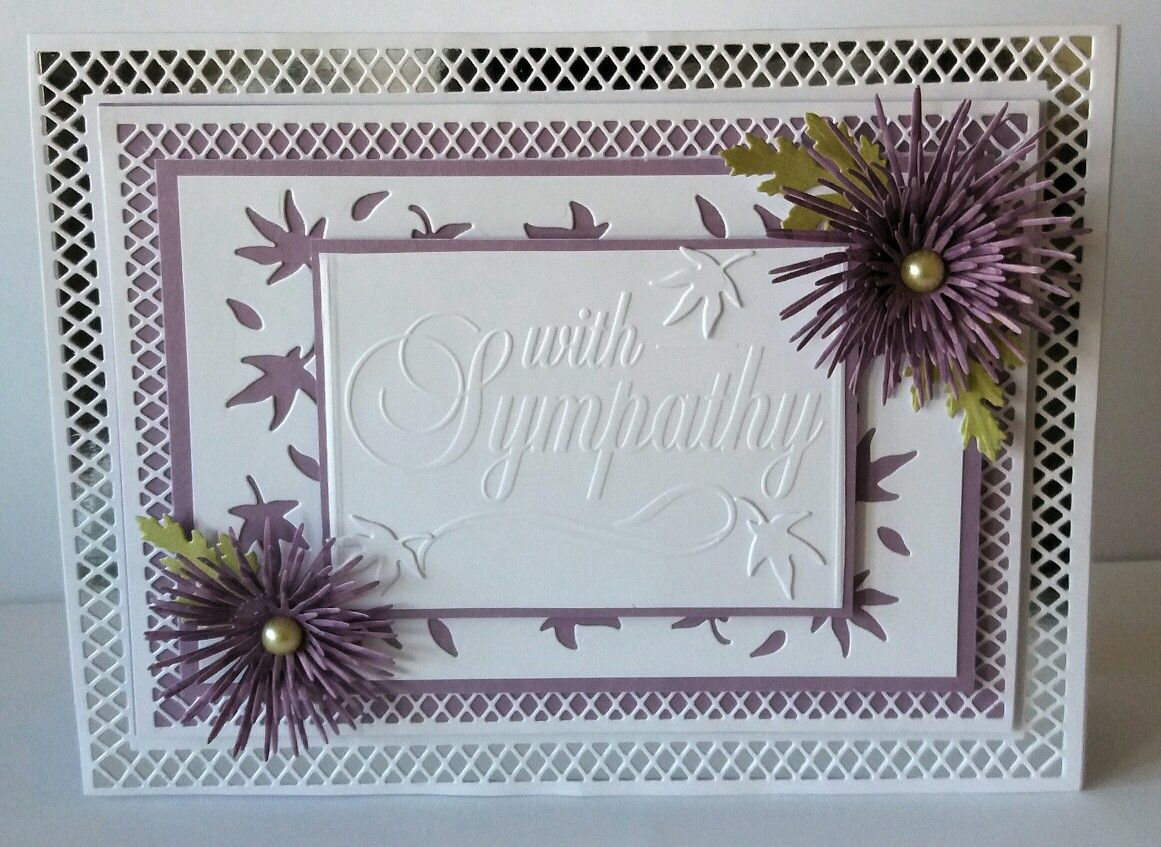 A5 Tent Fold Card Card Base And Layers Made Using Paper Discovery Card Builder Dies Sentiment Is A Darice Embossing Fold Discovery Card Sympathy Cards I Card