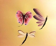 Butterfly and Dragonflies
