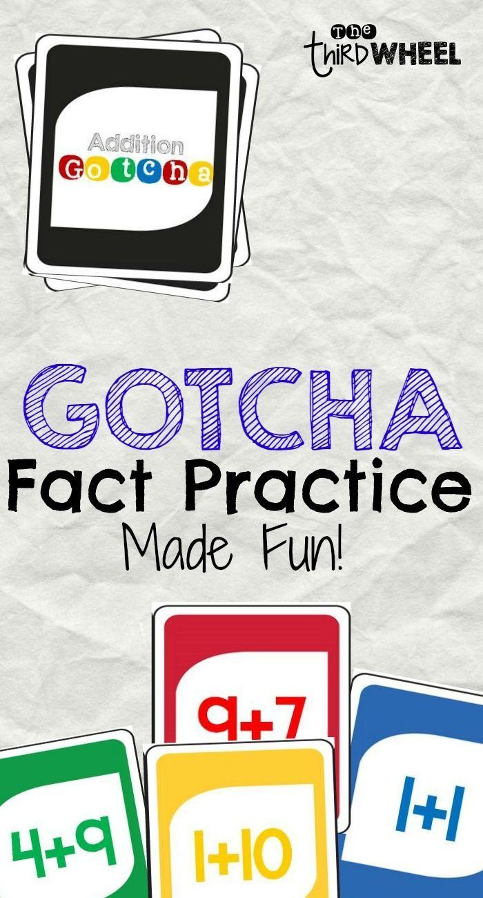 Addition Gotcha A Math Fact Fluency Game For The Classroom Math Fact Fluency Fact Fluency Games Math Facts [ 1300 x 700 Pixel ]