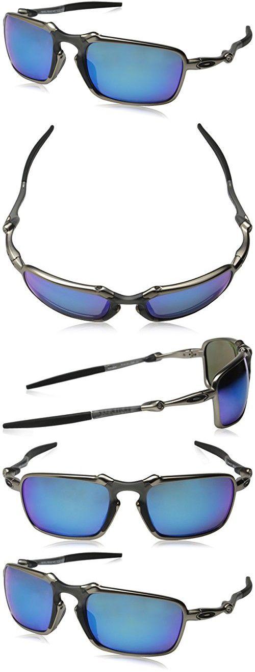 17540ca4ae Oakley Men s Badman OO6020-04 Polarized Iridium Rectangular Sunglasses