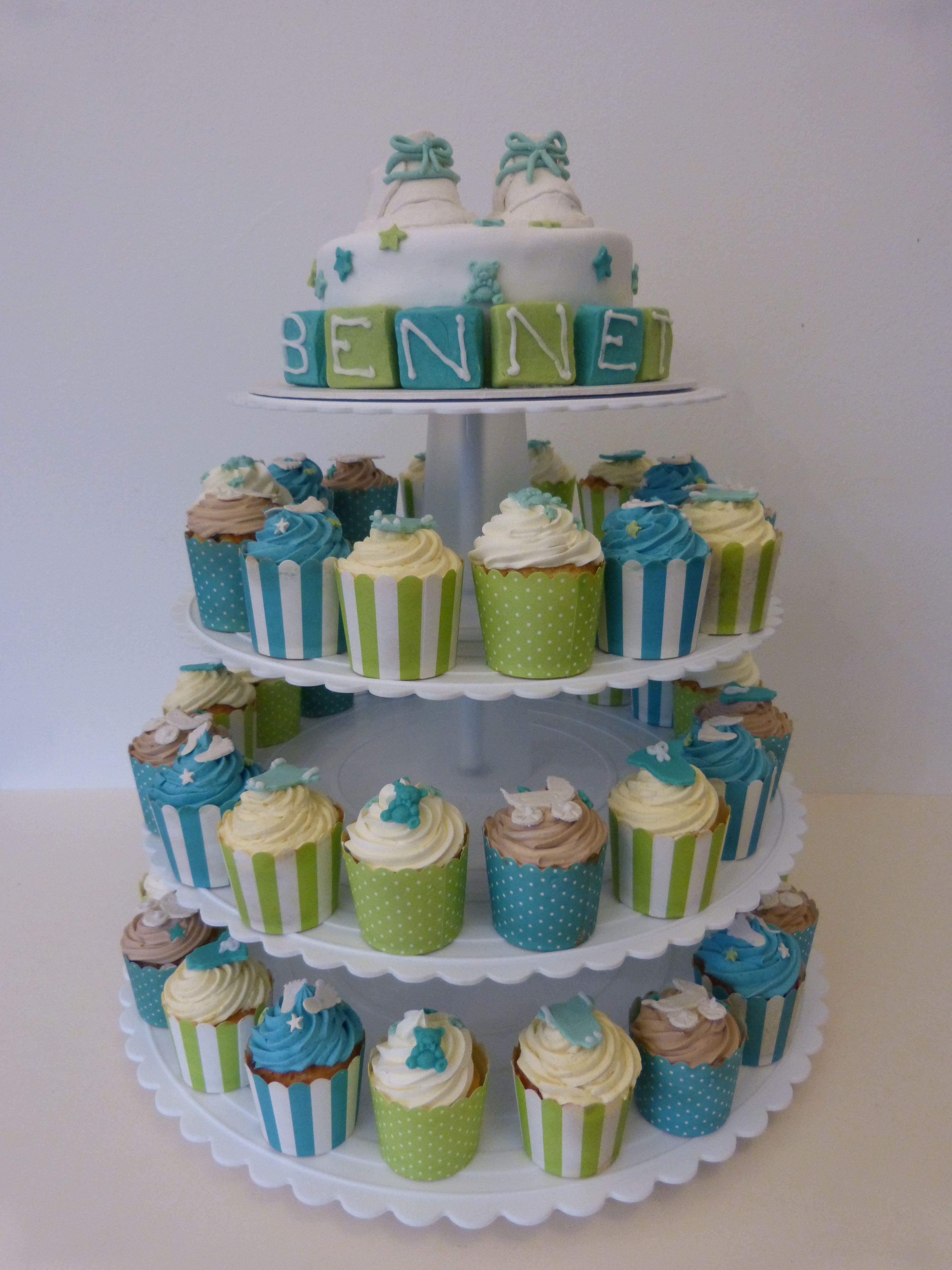 Tauftorte Cupcakes