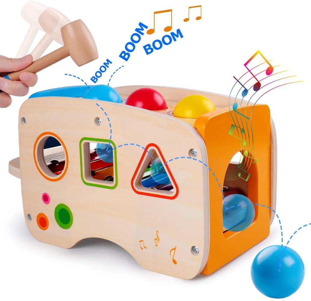 Rolimate Xylophon Und Hammerspiel Spielzeug Ab 1 Jahr 3 In 1 Montessori Padagogisches Vorschullernen Musiks En 2020 Juguetes Educativos Juguetes Montessori Montessori