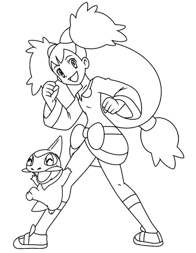 Pokemon Iris Coloring Pages