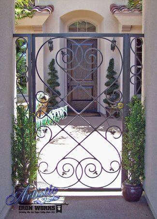 Decorative custom wrought iron gate