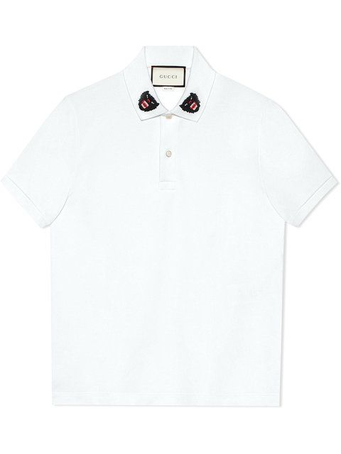 2945fd0b341 GUCCI Polo With Panther Embroidery.  gucci  cloth  embroidery Button Down Collar  Shirts