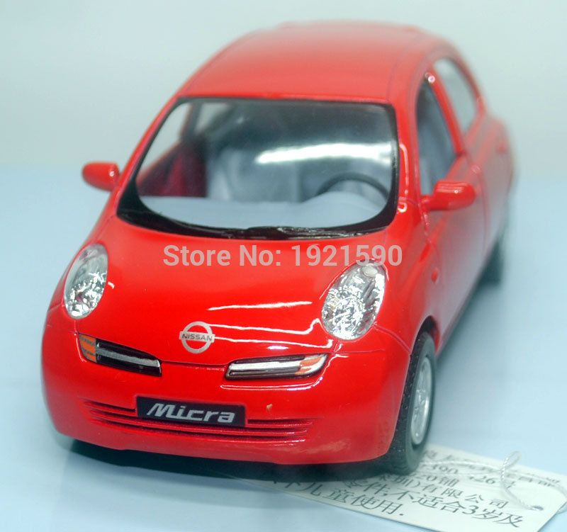 brand new kingsmart 128 scale japan nissan micra diecast metal pull back car model