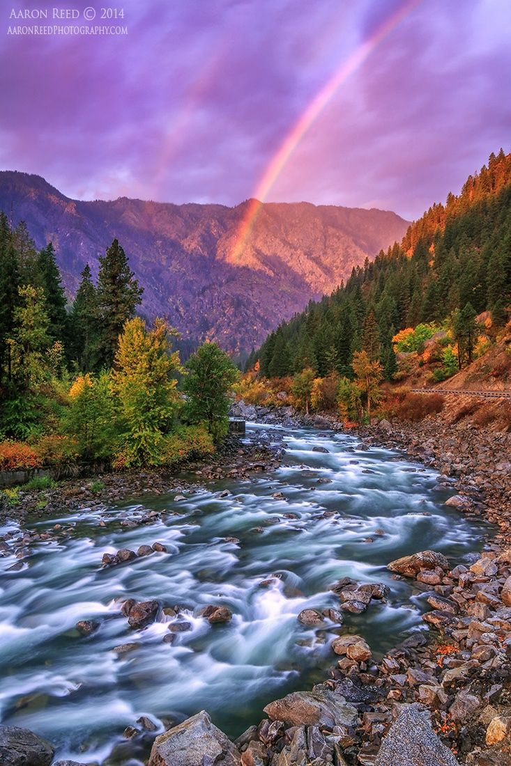 ~~Divine Intervention   rainbow landscape, spectacular sunrise this morning captured just outside Leavenworth, Washington   by Aaron Reed~~