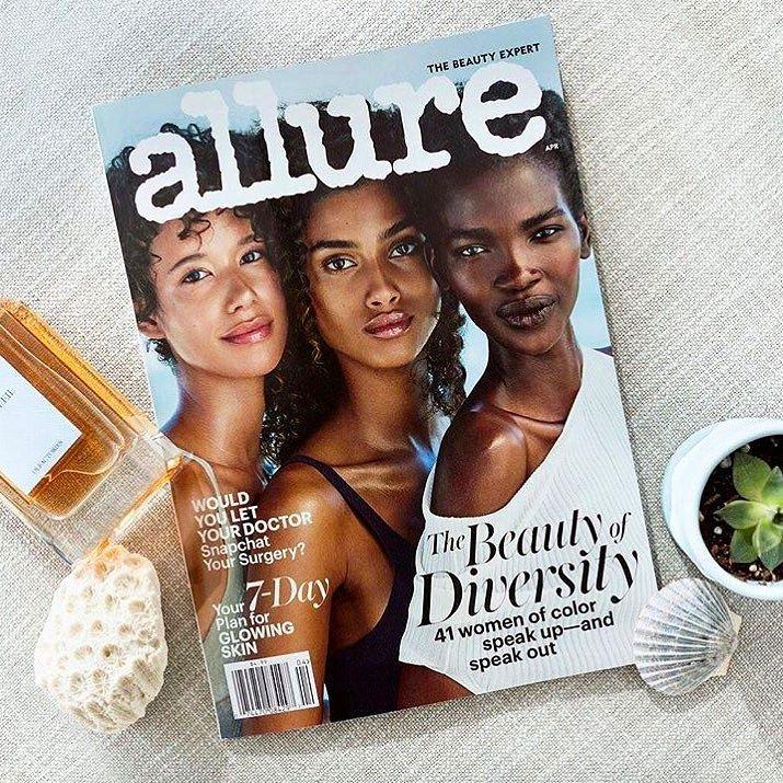 Maravilhosa a capa da @allure desse mês mostrando a diversidade realmente como ela é e pode ser! Melhor revista!
