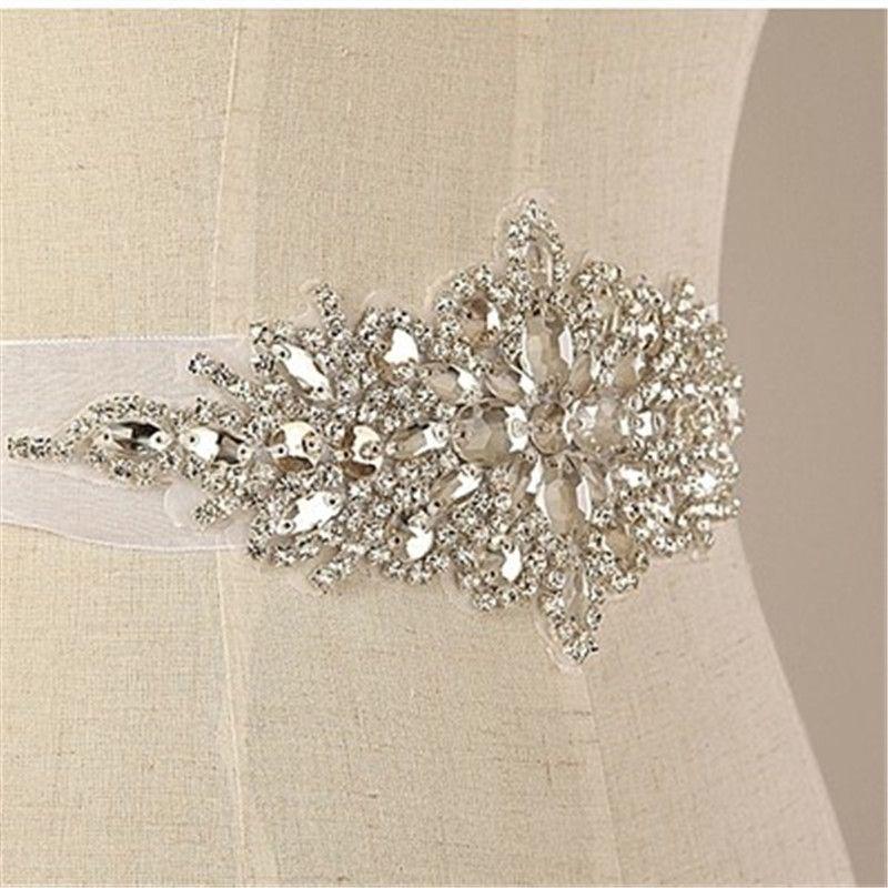 Handmade Luxurious Exquisite Shiny Bridal Sash Crystal Rhinestone Cummerbunds Waistband Formal Wedding Evening Dress Belts