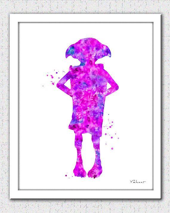 Dobby art print Dobby Harry Potter Elf Dobby by FluidDiamondArt